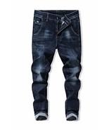 Heart Yuxuan Men's Slim Jeans, Fashion Stretch Skinny Jeans. 36, midnigh... - $26.93