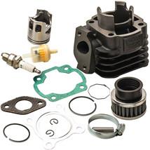Cylinder Piston Rings Gasket Kit For Polaris Scrambler 50 50cc 0450022 2001 2002 - $50.19