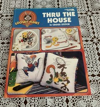 2001 Looney Tunes Leisure Arts Thru the House In Counted Cross Stitch Bo... - $14.99