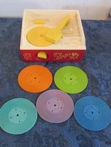 Vintage Fisher Price Original Music Box Record Player 995 Five Records U... - $38.66