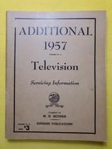 Vintage 1957 Additional Television Servicing MANUAL  Beitman Supreme Pub - $14.50