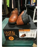 Ariat Women's Safety Clog Steel Toe Oil/Slip Resistant GoldBrown Leather... - $72.60