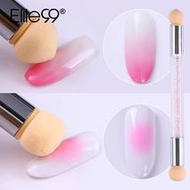 Elite99 Double End Nail Art Gel Polish Color Gradient Brush Stamping Blo... - $11.01