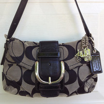 Auth Coach Black Soho Flap Signature Purse J083... - $35.90
