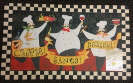 "RARE ANTI-FATIGUE NON SLIP FLOOR MAT (18""x30"") 3 FAT CHEFS BON APPETIT b... - $19.79"