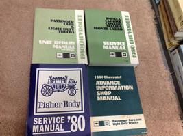 1980 Chevy IMPALA CAPRICE CAMARO MALIBU MONTE CARLO Service Shop Repair ... - $143.54