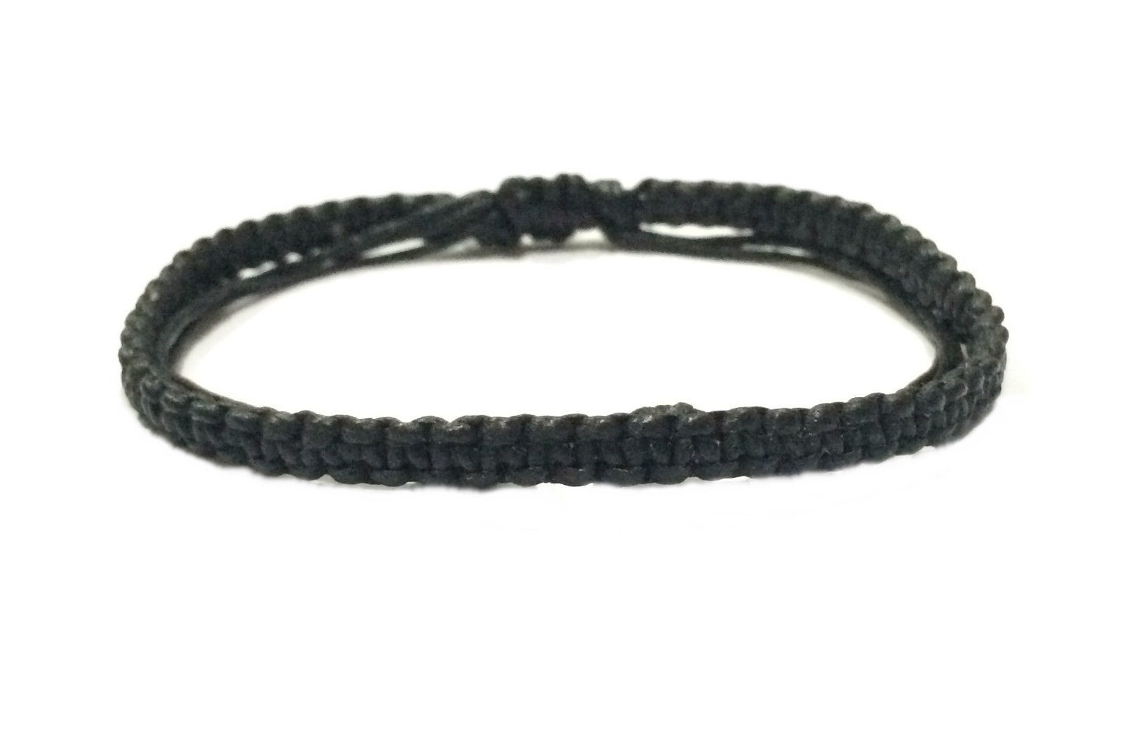 Fair Trade Waxed Cotton Weave Cord Buddhist Thai Wristband Handcrafted Wristwear