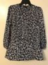 Tommy Hilfiger Womans Blouse Tunic Long Sleeves Floral Shirt Size L - $18.69