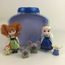 Disney Animators Collection Frozen Mini Doll Playset Carry Along Case An... - $39.55