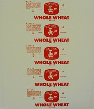 Vintage bread wrapper NATIONAL WHOLE WHEAT Chicago Illinois unused new o... - $9.99