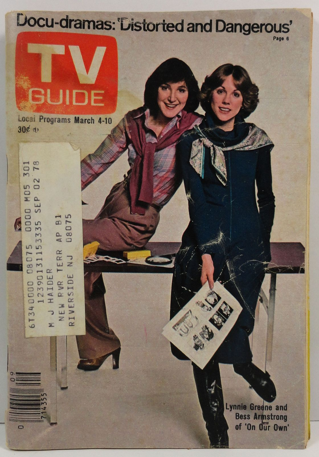 TV Guide Magazine March 4, 1978  Lynnie Greene Bess Armstrong