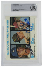 Mike Schmidt Roy Cey Signed 1973 Topps 615 Rookie 3rd Baseman Card BGS - $665.27