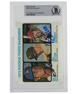 Mike Schmidt Roy Cey Signed 1973 Topps #615 Rookie Third Baseman Card BGS - $651.83