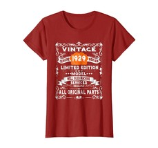 New Shirt -  Vintage 89th Birthday Funny Tshirt 1929 All Original Parts ... - $19.95+