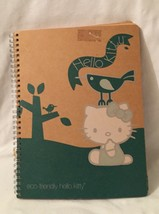"Eco Friendly Hello Kitty Natural Brown Paper Spiral Bound 5"" Notebook 2010 - $17.81"