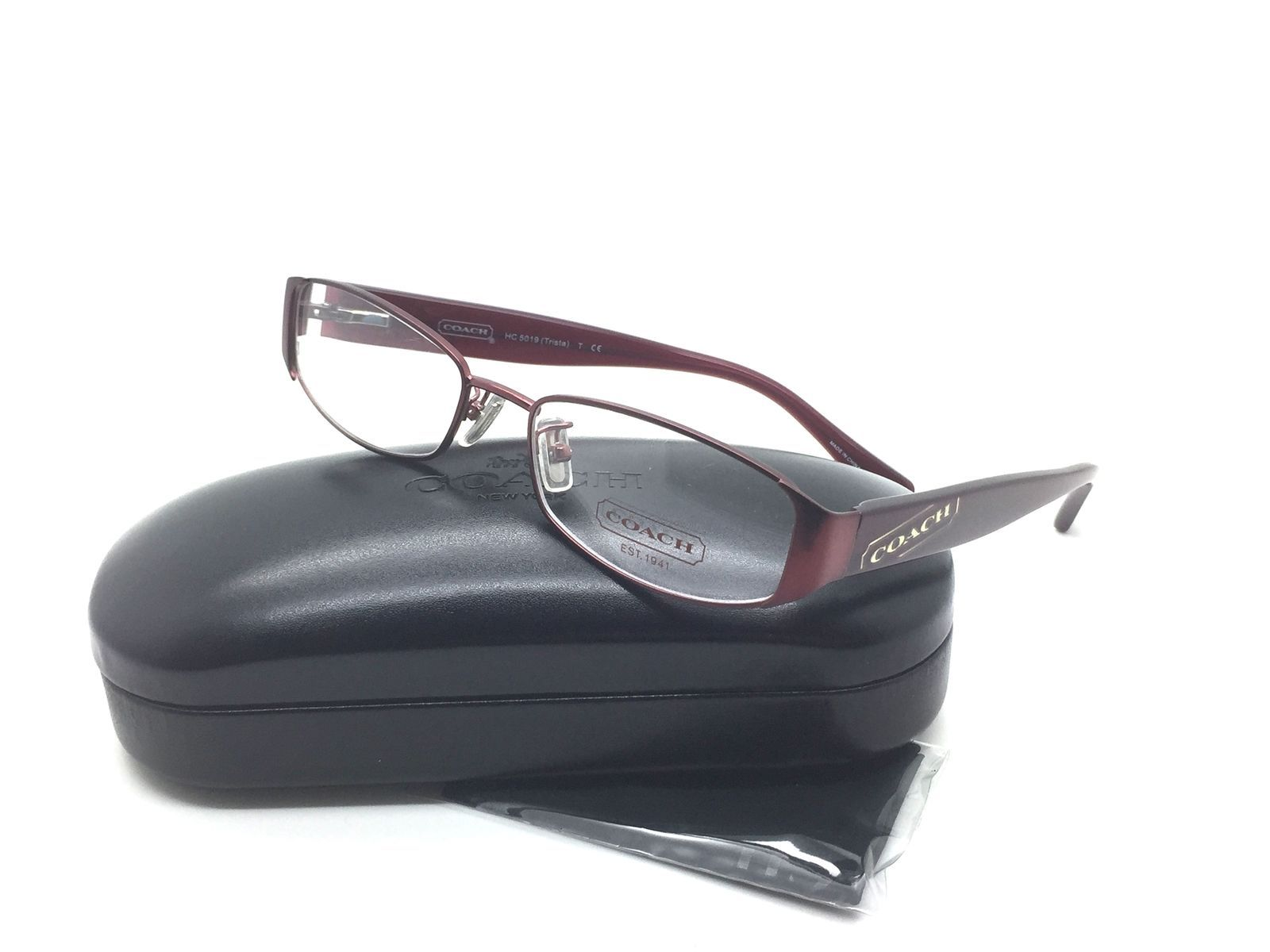 4a4daa49e49e Coach Women Burgundy New Eyeglasses HC 5019 and similar items. S l1600