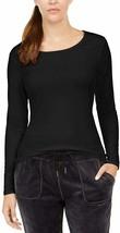 32 Degrees Cozy Heat Underwear Long Sleeve Scoop Top, Black, S - $10.71