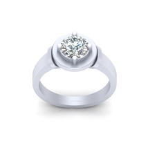 VVS-VS Clarity 1.30ct White Moissanite Solitaire Ring Solid 925 Sterling Silver - $244.99