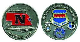 "OFFUTT AIR FORCE AFB NEBRASKA STRATCOM STRATEGIC COMMAND 1.75"" CHALLENGE... - $16.24"