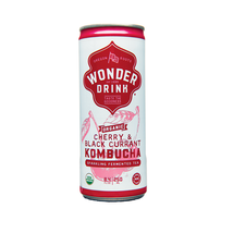 Kombucha Wonder Drink Cherry & Black Currant Sparkling Fermented Tea 8.4... - $49.49