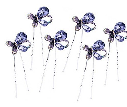 6 Pcs Bridal Headdress Hairpin Plate Hair Device U-shaped Clip Hairpin