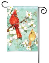 BreezeArt Cardinals in Spring Garden Flag - $12.61
