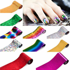 60 Colors Nail Art Tips Wraps Transfer Foil A* US SELLER * BUY2GET1FREE image 5