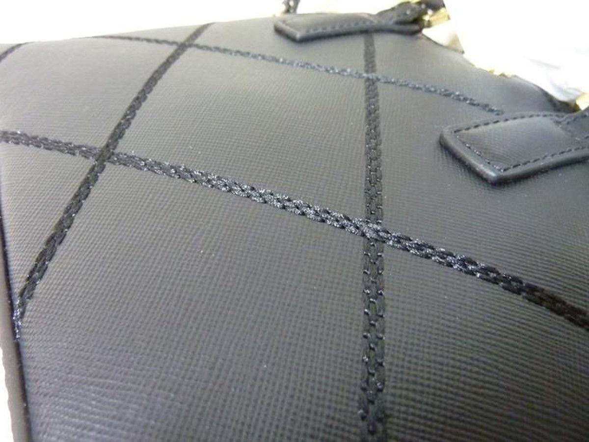 NWT Tory Burch Black Saffiano Mini Robinson Stitched Dome Cross Body Bag  - $425 image 10