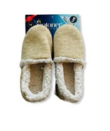 NWT $30 ISOTONER Women's Oatmeal Heather Slippers Faux Fur Limited Edition  - $16.82