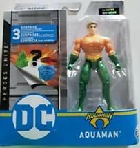 New 2020 Spin Master Dc Heroes Unite Aquaman 4 Inch Figure Short Hair - $14.99