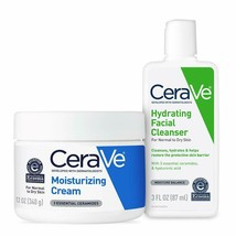 CeraVe Moisturizing Cream and Hydrating Face Wash Trial Combo | 12oz +... - $21.82