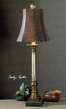 Oil Rubbed Bronze and Silver Table Lamp Brown 33H Buffet Column Square T... - €146,66 EUR