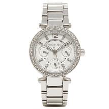 Michael Kors MK5615 Mini Parker Glitz Silver Bracelet Chronograph Watch - $135.77