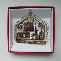 Washington D.C. Monuments Brass Christmas Ornament Travel Souvenir Gift - $14.95