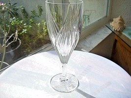 "Cris D'Arques Ancona Pattern Clear Crystal Water Glass 8 1/2"" Tall - $9.90"