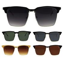 Womens Flat Lens Boyfriend Style Hipster Half Rim Retro Sunglasses - $13.95
