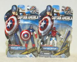"Hasbro Captain America 02 Heavy Artillery  06 Captain Britain  4"" Action... - $14.85"
