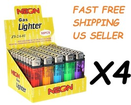 200 Ct Full Size Disposable Cigarette Lighters Assorted Color Wholesale ... - $34.64