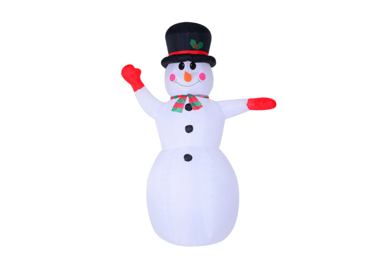 8ft Indoor Outdoor LED Inflatable Waving Snowman Holiday Christmas Yard Decor
