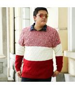 Men Sweater Winter Round Neck Knitted Patchwork Sweaters Male Casual Aut... - $119.97