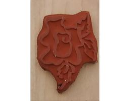 Denamid Design 1994 Stylized Flower Wood Mounted Rubber Stamp image 2