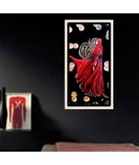 7 x 14 Canvas Painting Red Riding Hood - $12.90