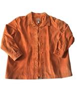 Jessica Holbrook Suede 100% Leather Rust Orange Jacket Blazer Coat 2X XXL - $99.99