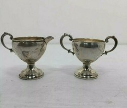 Vintage Sterling Silver Weighted Bottom Sugar & Coffee Creamer .5lbs - $249.00