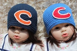 Knit Crochet Newborn Baby Child Kids Chicago Baseball Twins Hat Beanie 2... - $14.99