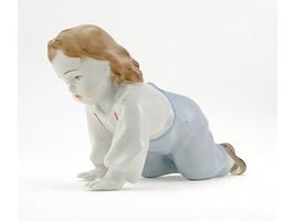 Vintage Zsolnay Girl Figurine - $44.65