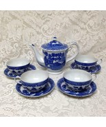 Vintage,  Rare, 1947-1952 Occupied Japan, Blue Willow 10pc Tea Set for 4 - $213.70