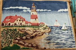 "Set of 4 New Tapestry Placemats, 13"" x 19"", SEASHORE, LIGHTHOUSE & 2 SAI... - $21.77"