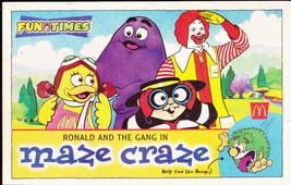 McDonald's Ronald & the Gang in Maze Craze 1999 Fun Times Booklet - $7.40