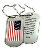 American Flag Dog Tag Necklace - $10.99